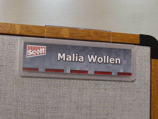 Cubicle signs | Workstation signs | Pod nameplates