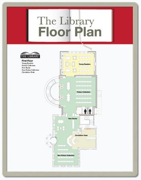 Color-coded floor plans SNAP frame floor plan sign