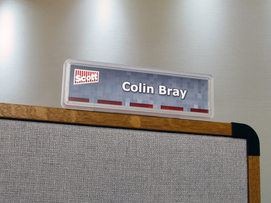 standing cubicle sign